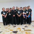 I partecipanti al seminario sulle tacniche di combattimento taiji tang lang